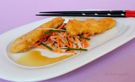 Harcsa tempura recept friss zöldségekkel