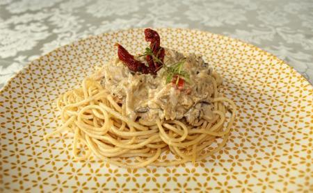 Articsókás csirkemell spagetti