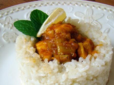 Perzsa rebarbarás csirkepörkölt recept