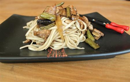 Szecsuáni zöldbab és csirke recept gombával
