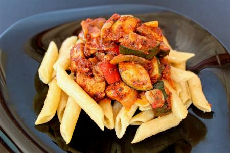 Zöldséges csirkemell ragu recept wokban